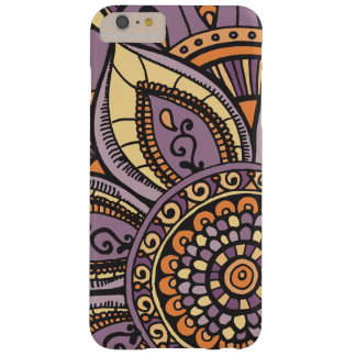 Sunset Sunrise Colours Girly Floral Mandala Design Barely There iPhone 6 Plus Case