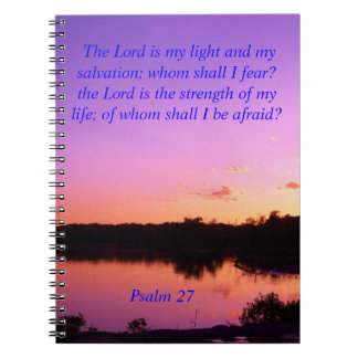 sunset sunrise psalms 27 Bible verses Notebooks