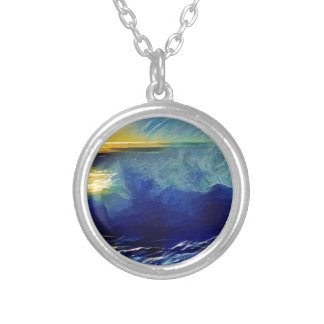 Sunset Surf Makaha Silver Plated Necklace
