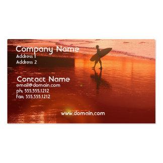 Sunset Surfer Business Card