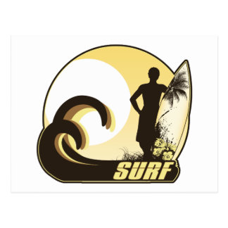 Sunset Surfer Postcard