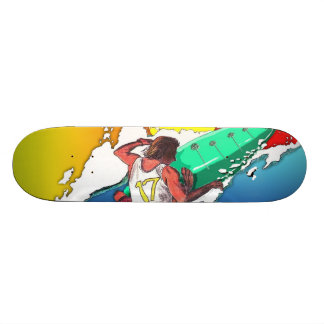 Sunset Surfer Surfing Skateboard deck art design