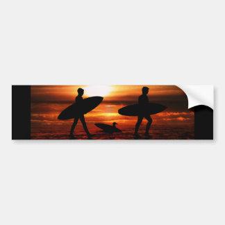 Sunset Surfers Bumper Stickers