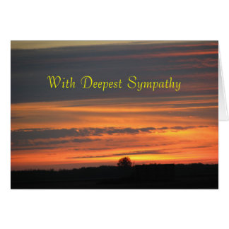 Sunset Sympathy Card