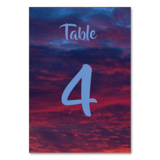 Sunset Table Cards