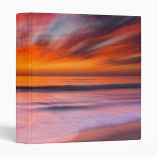 Sunset Tamarack Beach | Carlsbad, CA 3 Ring Binders
