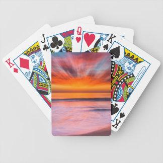 Sunset Tamarack Beach | Carlsbad, CA Bicycle Playing Cards