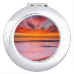 Sunset Tamarack Beach | Carlsbad, CA Compact Mirrors