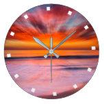Sunset Tamarack Beach | Carlsbad, CA Large Clock