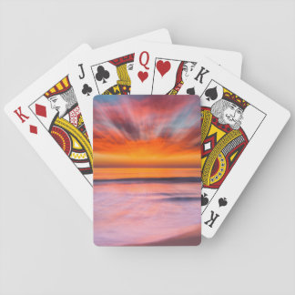 Sunset Tamarack Beach | Carlsbad, CA Playing Cards