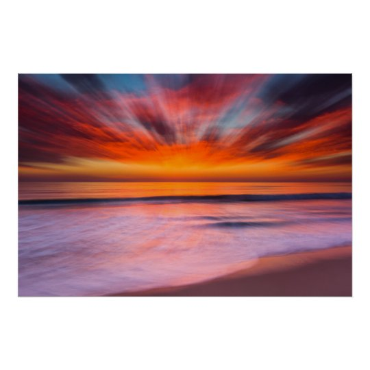 Sunset Tamarack Beach | Carlsbad, CA Poster