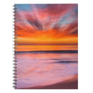 Sunset Tamarack Beach | Carlsbad, CA Spiral Notebook