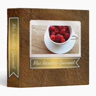 Sunset Tan Look of Leather Recipe Collection Vinyl Binder