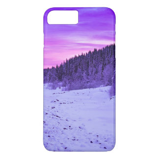Sunset Themed, A Passage Covered In Snow Passing T iPhone 7 Plus Case