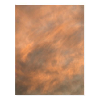 Sunset through clouds. postcard
