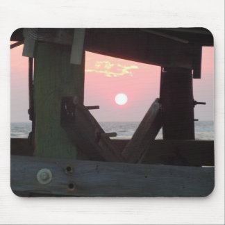 Sunset Through the Pier - Oak Island, NC Mouse Pad