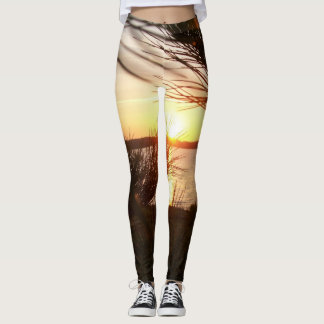 Sunset through the pines leggings