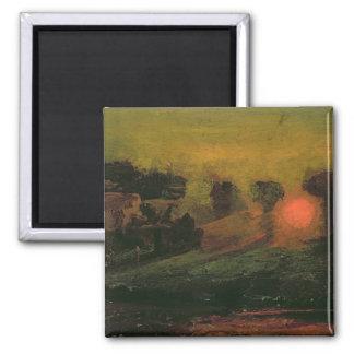 Sunset through Trees, c.1855 Square Magnet