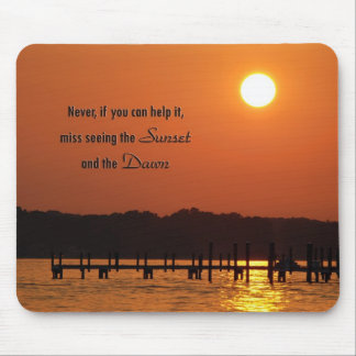 Sunset Time Mouse Pad