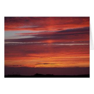 SUNSET, TORY ISLAND, IRELAND CARD