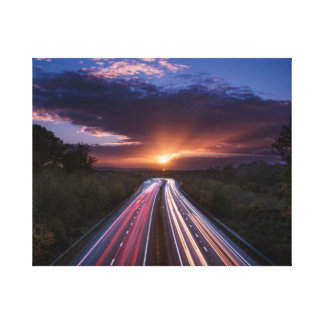 Sunset Trails Canvas Print