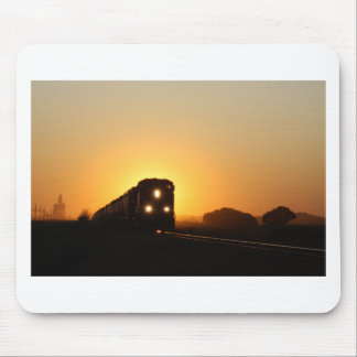 Sunset Train Mouse Pad