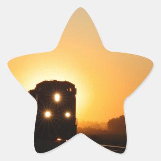 Sunset Train Star Sticker