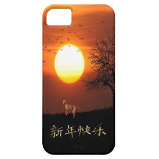 Sunset, Tree, Birds, Weimaraner, Dog iPhone 5 Cover