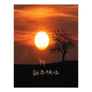 Sunset, Tree, Birds, Weimaraner, Dog Letterhead