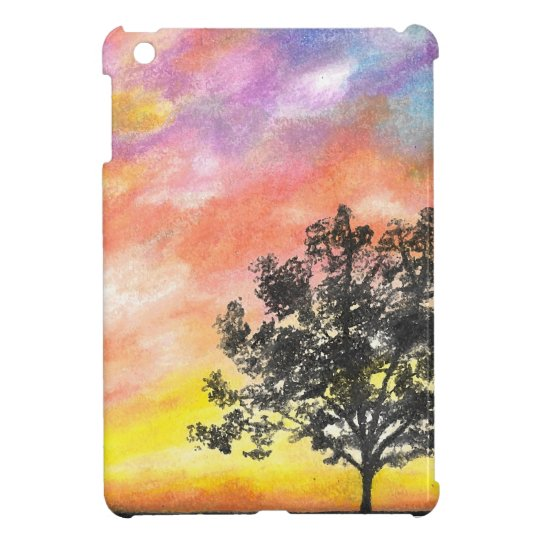 Sunset Tree Landscape iPad Mini Cases