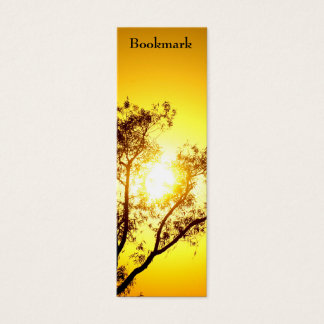 """Sunset Trees """"bookmark"""" skinny business card"""