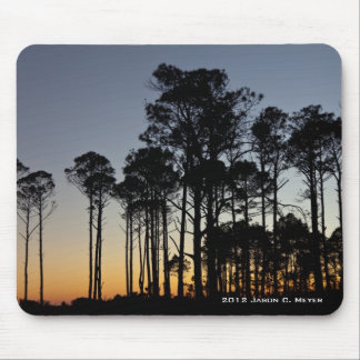 Sunset Trees Mouse Pad