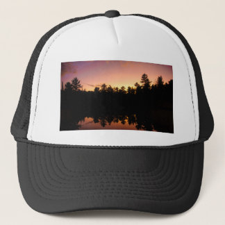 Sunset Trees Reflected on the Lake Trucker Hat