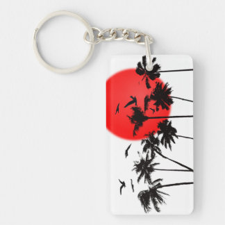 SUNSET TROPICAL KEYCHAIN BY EKLEKTIX