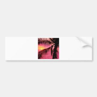 Sunset Tropical Setting Hawaii Bumper Sticker