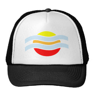 Sunset vapor sunset haze trucker hat