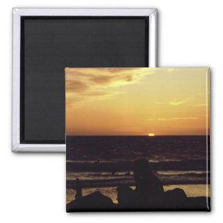 Sunset Venice Beach CA. Magnet