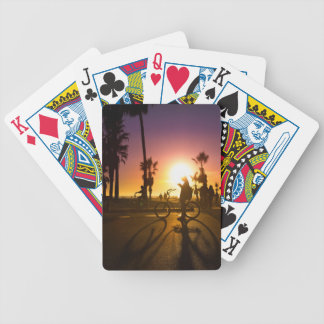 sunset Venice Bicycle Playing Cards