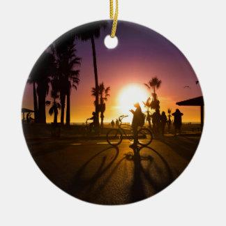 sunset Venice Ceramic Ornament