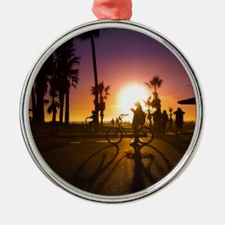 sunset Venice Metal Ornament