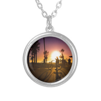 sunset Venice Silver Plated Necklace