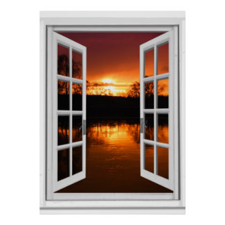 Fake window posters zazzle canada for Poster trompe oeil fenetre
