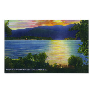 Sunset View of Prospect Mountain Poster