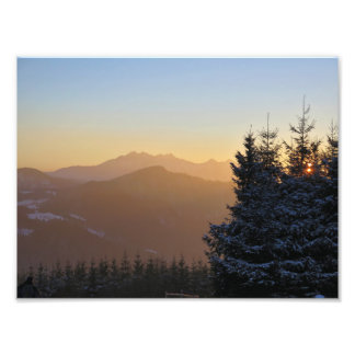 Sunset view of the Tatras mountains Photo Print