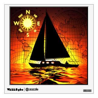 Sunset Voyage Wall Sticker