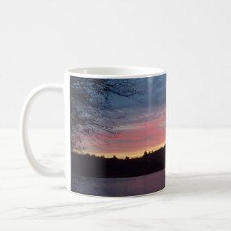 Sunset, Walden Pond, crescent moon Coffee Mug