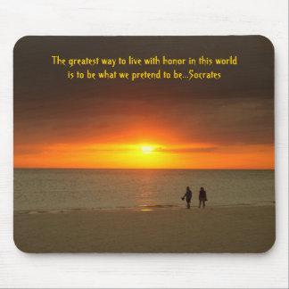 Sunset walk on the beach mousepad