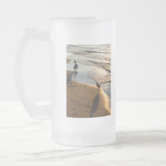 Sunset Walk With Mommy Frosted Glass Beer Mug