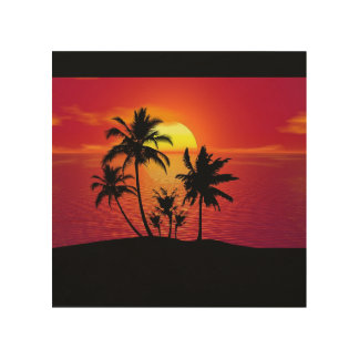 sunset wall art wood canvases