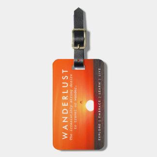 Sunset Wanderlust Definition Travel Luggage Bag Tag